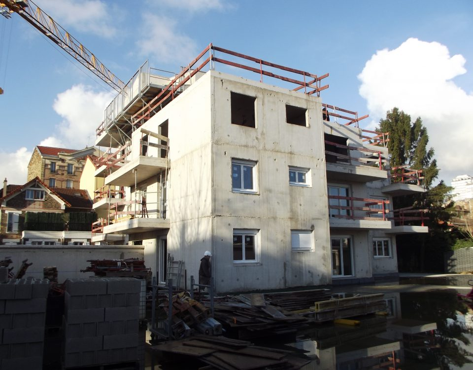 chantier fenêtre pvc blanche