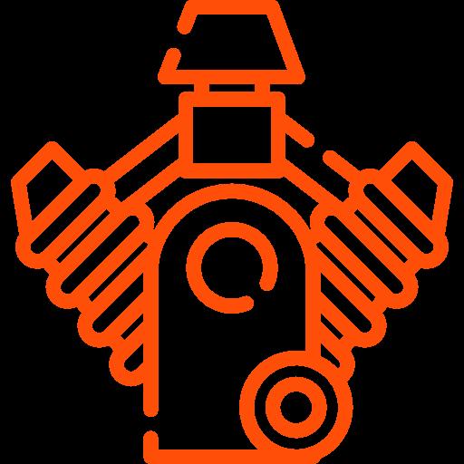 picto moteur orange