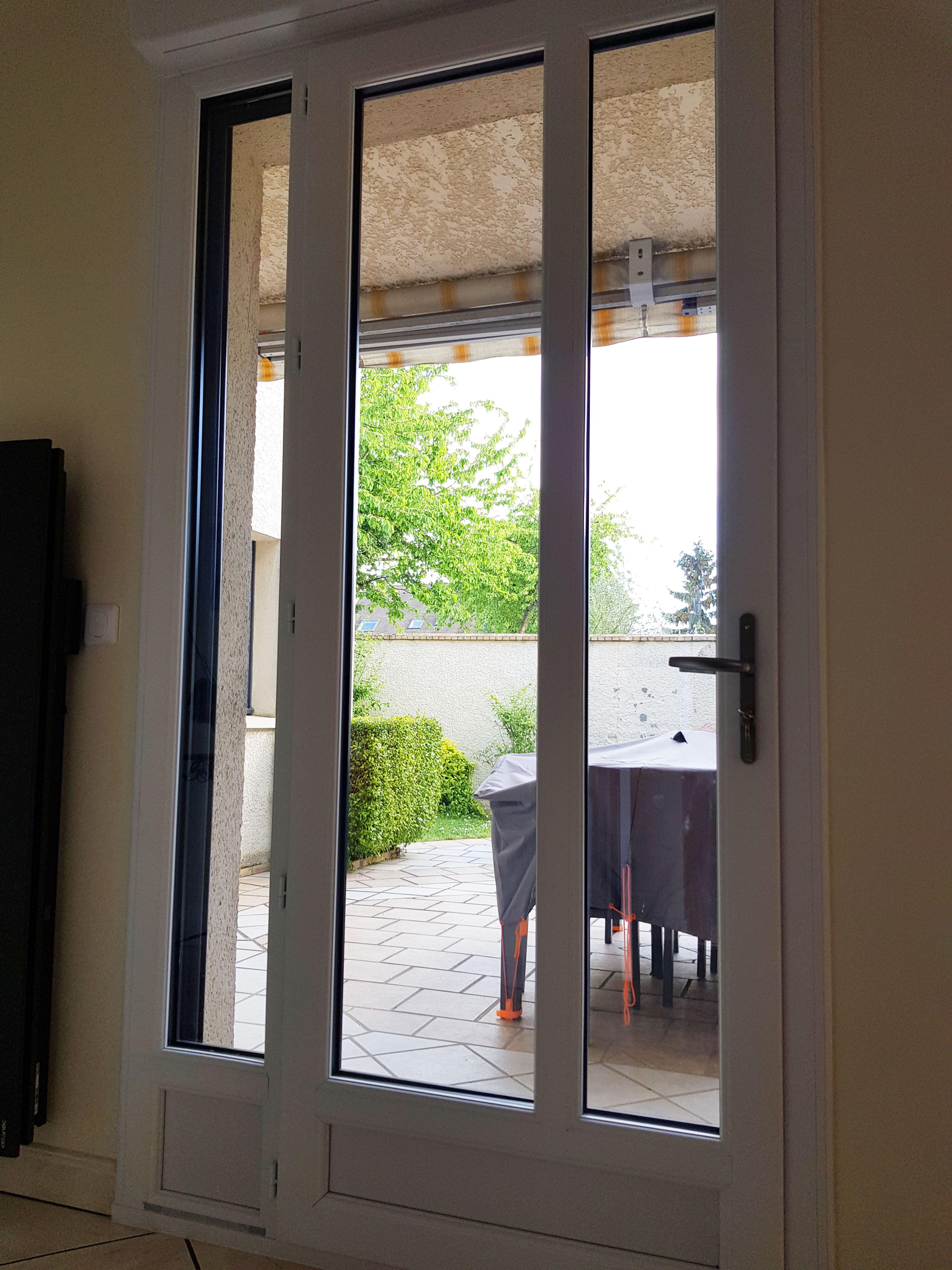 porte fenêtre salle à manger ouverture à la française